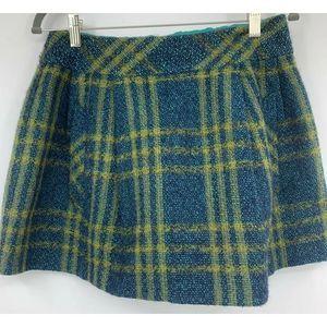 Nanette Lepore skirt 4 plaid pockets mini wool
